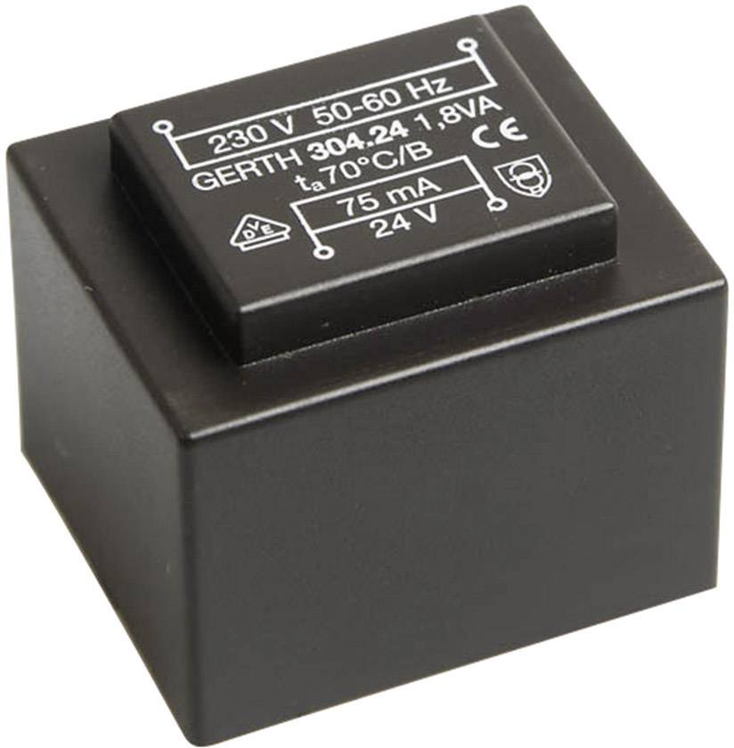 Transformátor do DPS Block VB 1,5 VA, prim: 230 V, sek: 2x 18 V, 2x 41 mA, 1,5 VA