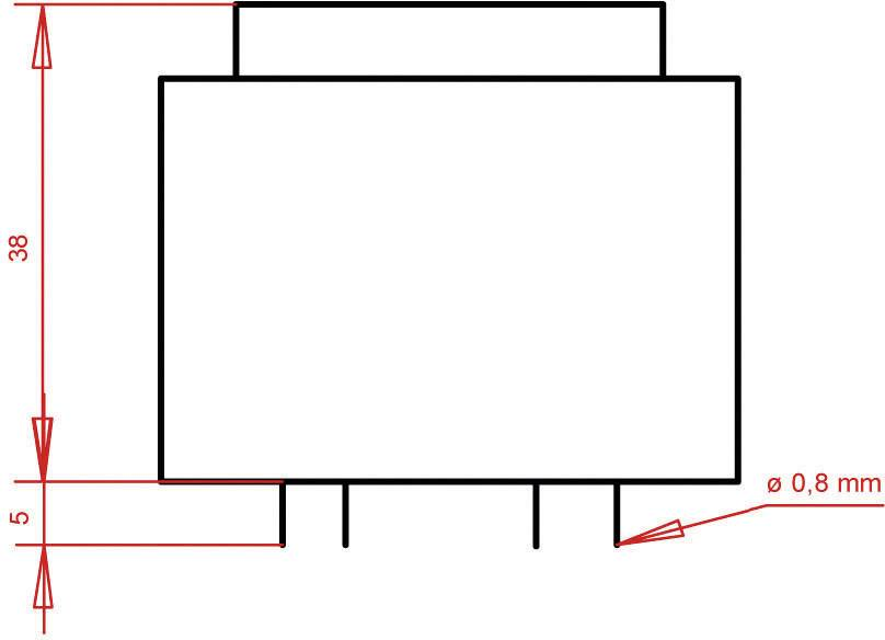 Transformátor do DPS Gerth EI 42/20, prim: 230 V, Sek: 9 V, 888 mA, 8 VA