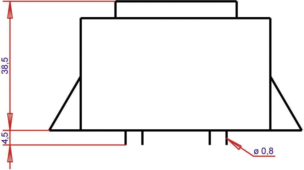 Transformátor do DPS Gerth EI 54/18,8, prim: 230 V, Sek: 2x 7,5 V, 1066 mA, 16 VA