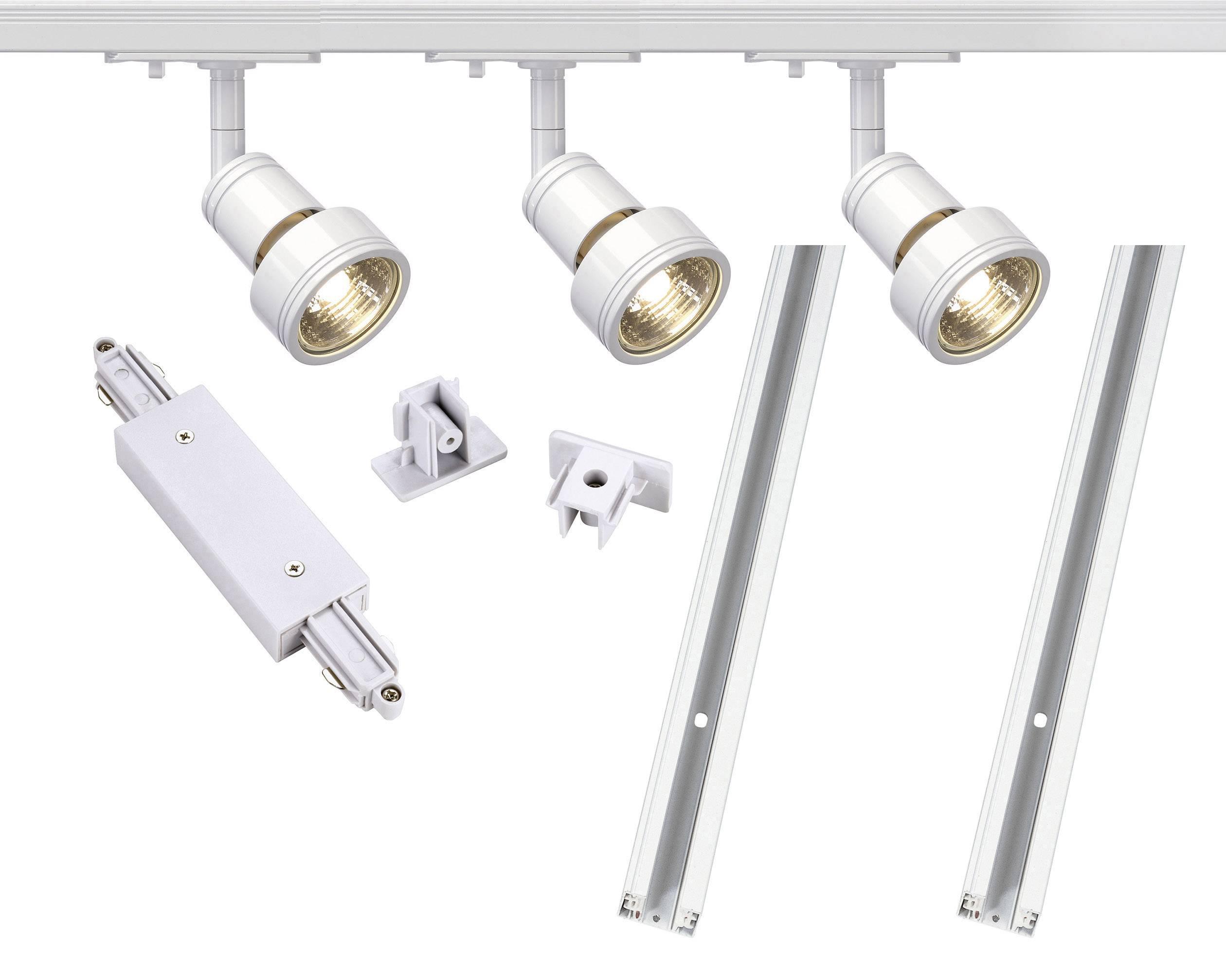 Lištový systém svítidel SLV, 1fázový, LED, 3x 50 W, GU10, bílá