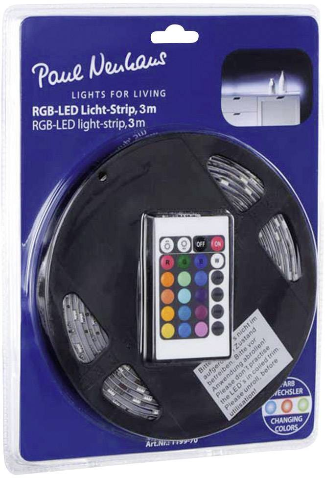 Kompletní sada LED pásků Paul Neuhaus 1199-70, 230 V, 24 W, RGB, 300 cm