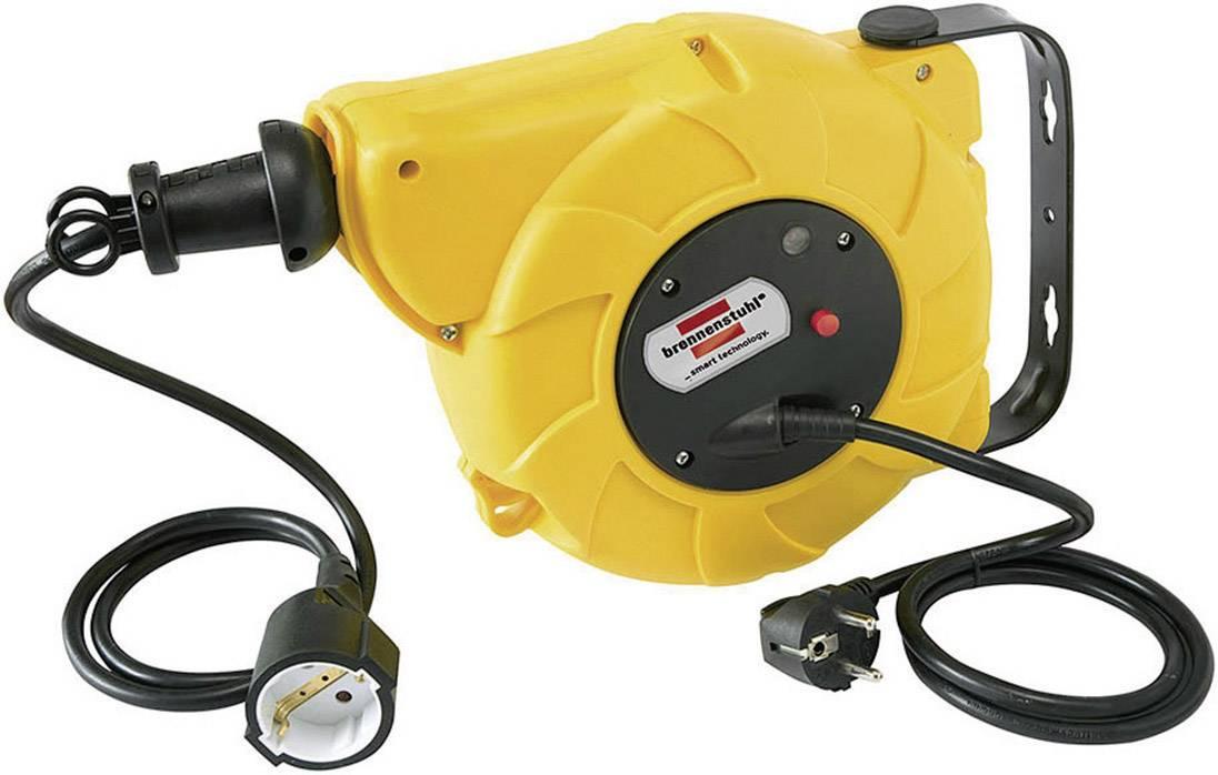 Automatický kabelový buben Brennenstuhl, 1241020300, 1 zásuvka, 9 m, IP20, černá