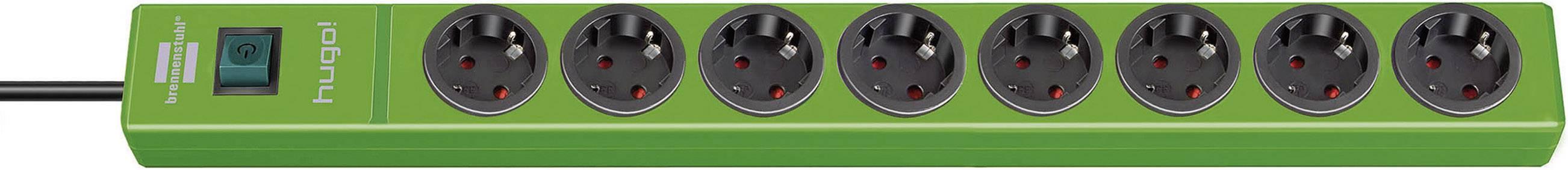 Zásuvková lišta s vypínačem Brennenstuhl hugo! Steckdosenleiste 57 cm grün 1150610198, počet zásuvek 8, 2.00 m, zelená
