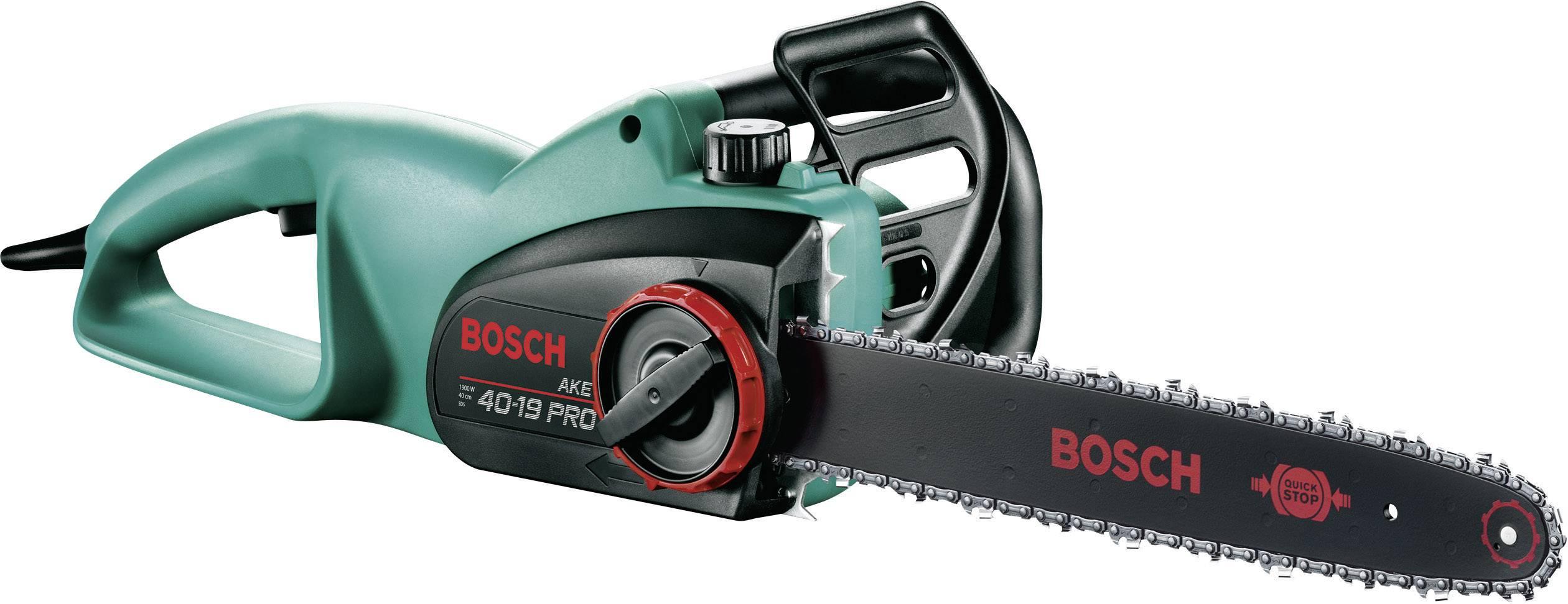 Elektrická řetězová pila Bosch Home and Garden AKE 40-19 PRO, 230 V, 1 900 W, délka čepele 400 mm