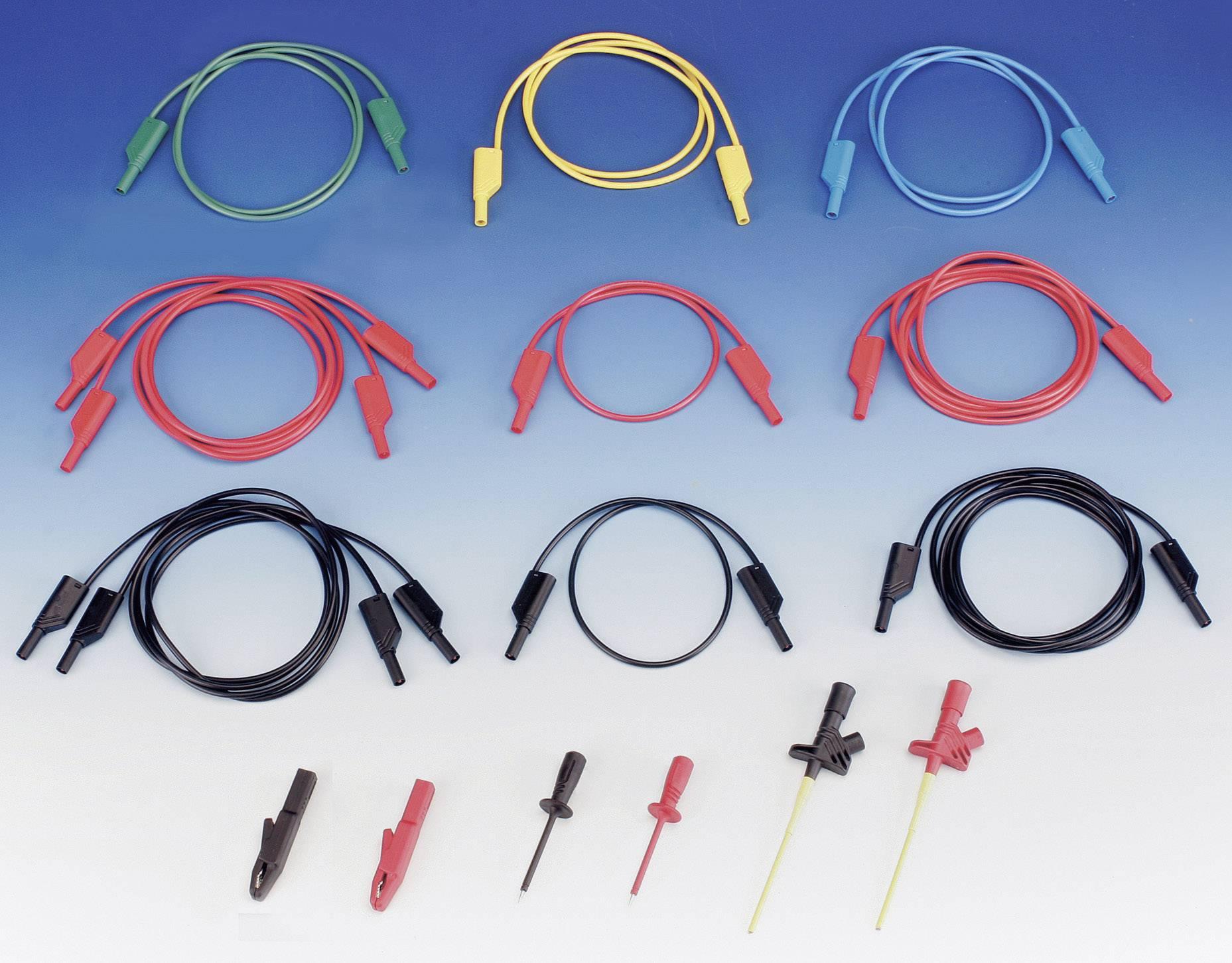 Sada měřicích kabelů banánek 4 mm ⇔ banánek 4 mm SKS Hirschmann CO MLS, 1 m