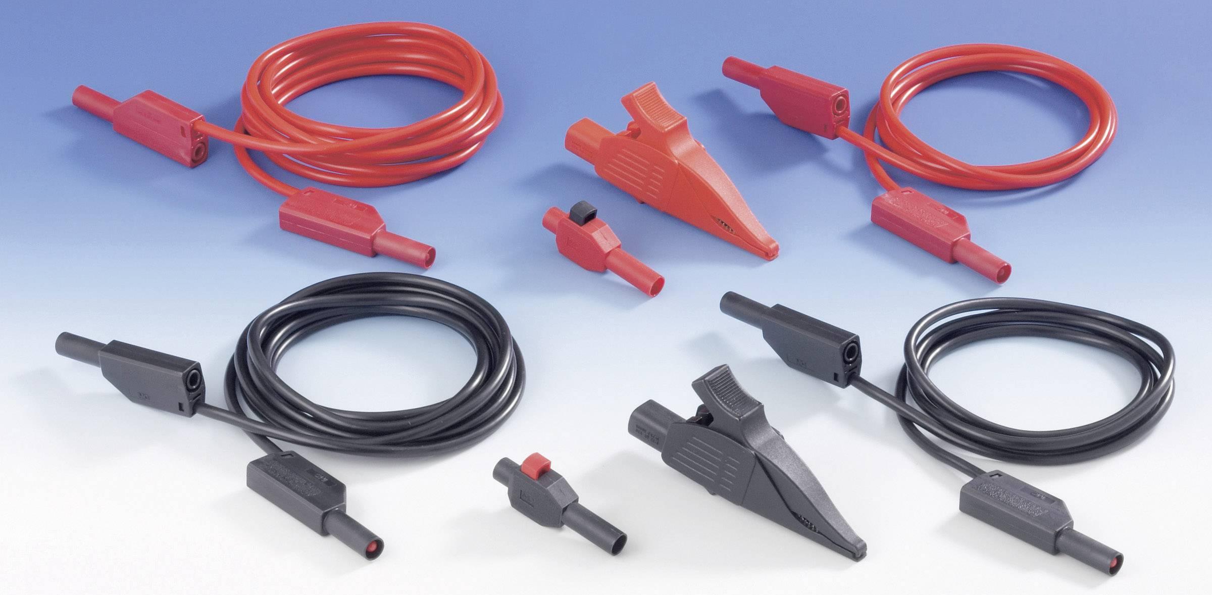 Sada měřících kabelů pro síťové zdroje MultiContact SET3000345, 2 m, černá/červená