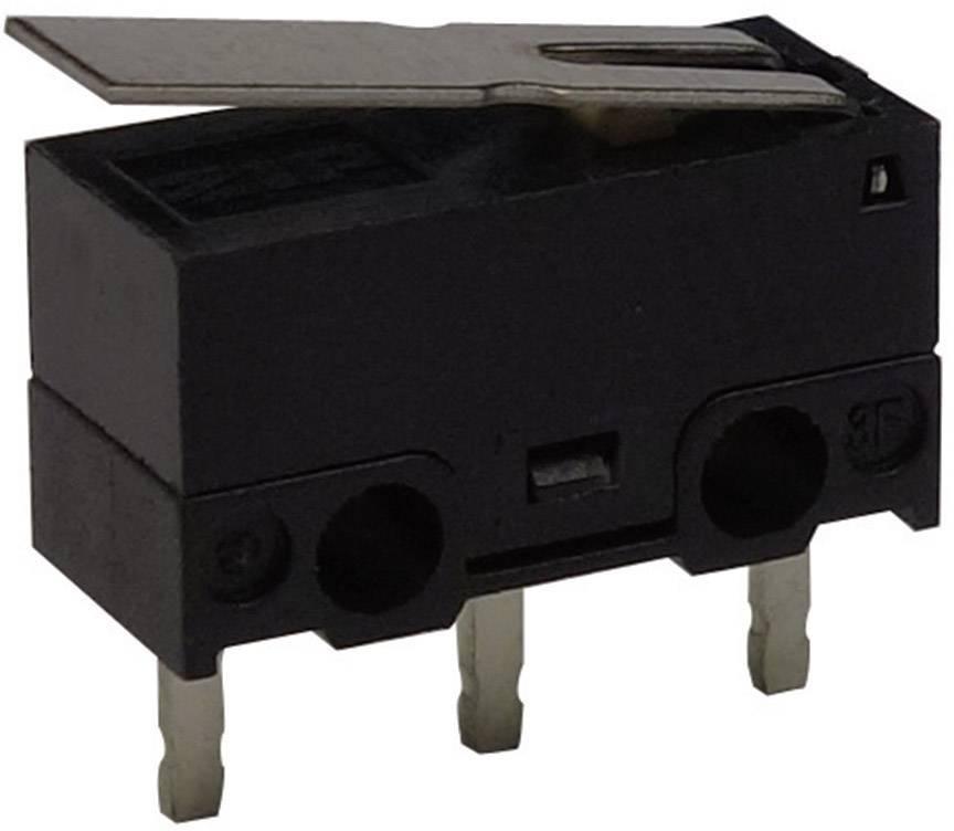 Mikrospínač - rovná kovová páka Zippy DF-03S-1P-Z, 125 V/AC, 3 A