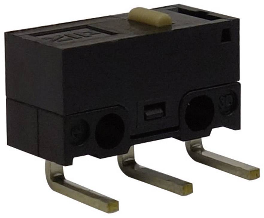 Mikrospínač Zippy DF-03S-0D-Z, 125 V/AC, 3 A, do DPS zahnuté, 1x zap/(zap)