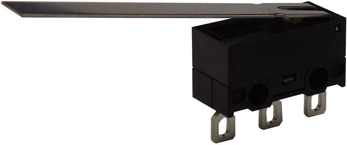Mikrospínač s páčkou Zippy DF-03S-9E-Z, 125 V/AC, 3 A, pájecí očka, 1x zap/(zap)