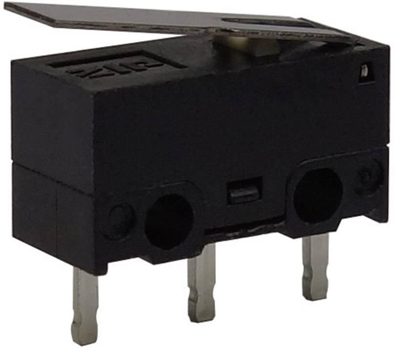 Mikrospínač - rovná kovová páka Zippy DF-P1L-1P-Z, 30 V/DC, 0.1 A