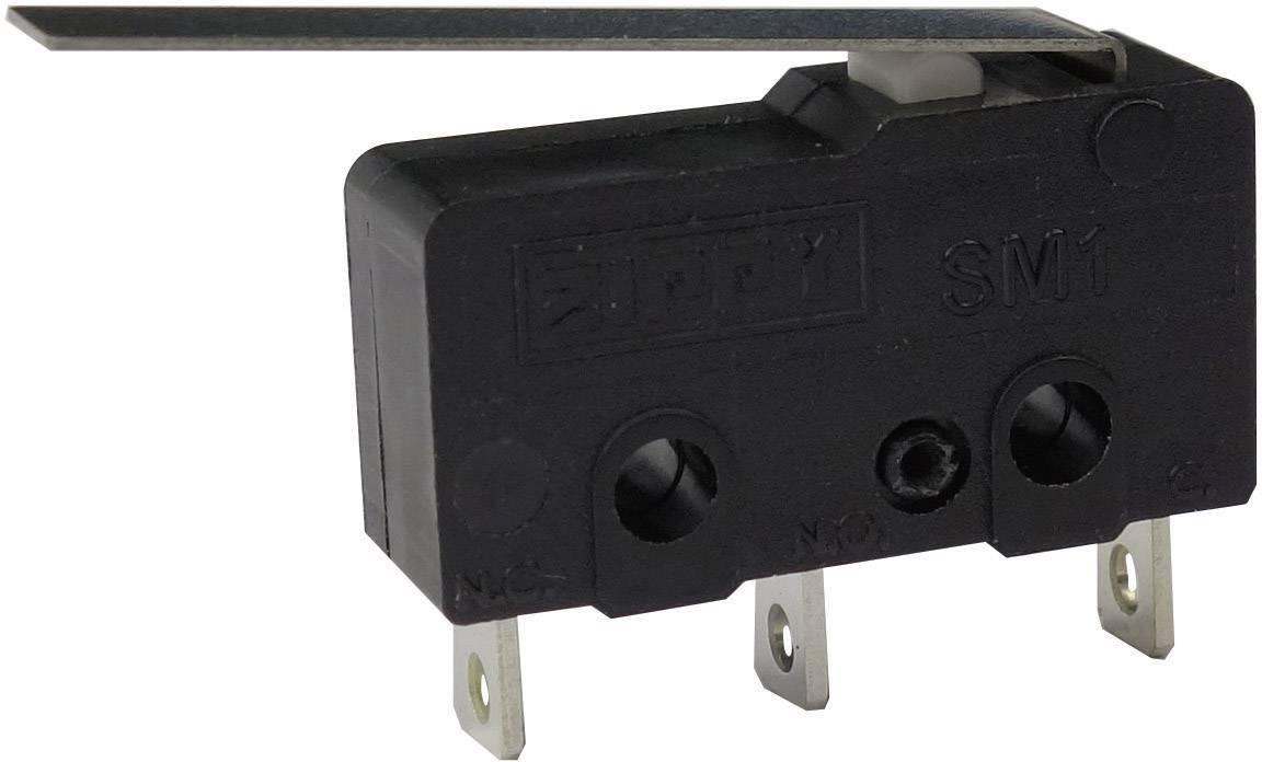 Mikrospínač - rovná kovová páka Zippy SM1-N6S-03A0-Z, 250 V/AC, 6 A