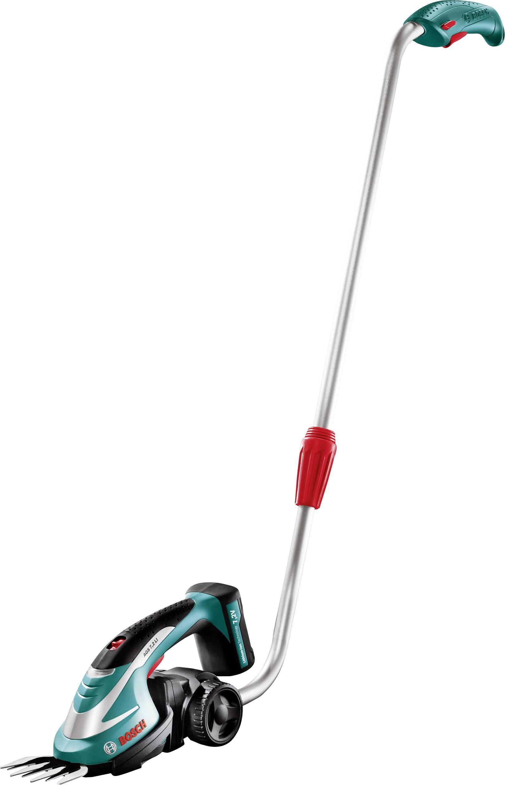 Na akumulátor teleskopické nůžky na trávu + akumulátor Li-Ion akumulátor Bosch Home and Garden AGS 7,2 LI