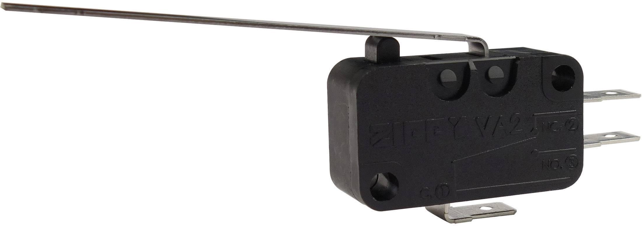 Mikrospínač - rovná kovová páka Zippy VA2-16S1-03D0-Z, 250 V/AC, 16 A