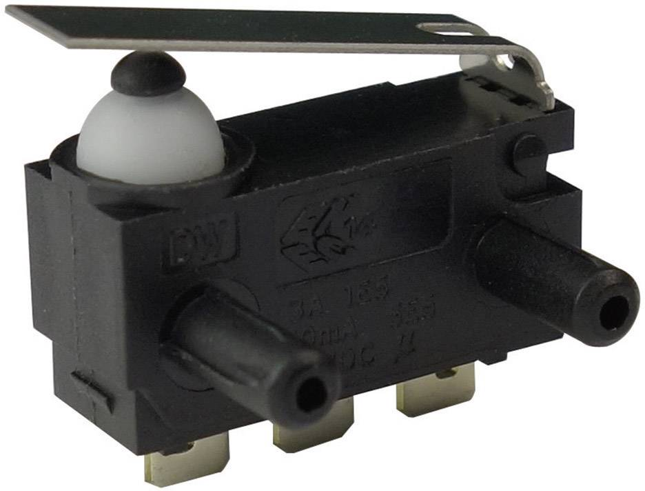Mikrospínač - rovná kovová páka Zippy DW-N2S-01A0E-Z, 12 V/DC, 0.1 A