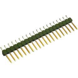 Kolíková lišta MOD II TE Connectivity 826926-3, přímá, 2,54 mm, zelená