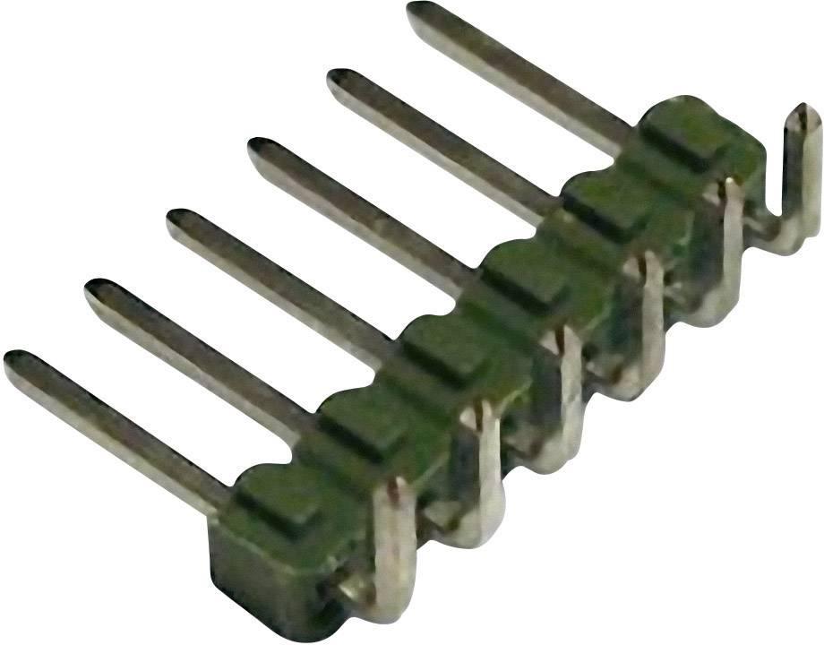 Kolíková lišta MOD II TE Connectivity 826947-5, úhlová, 2,54 mm, zelená