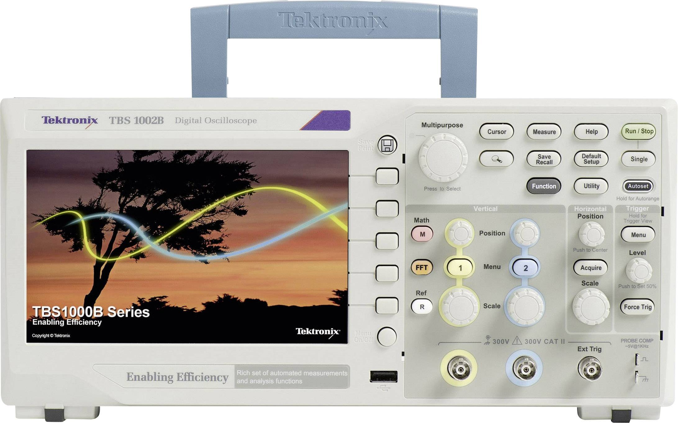 Digitálny osciloskop Tektronix TBS1072B, 70 MHz, 2-kanálový, kalibrácia podľa ISO