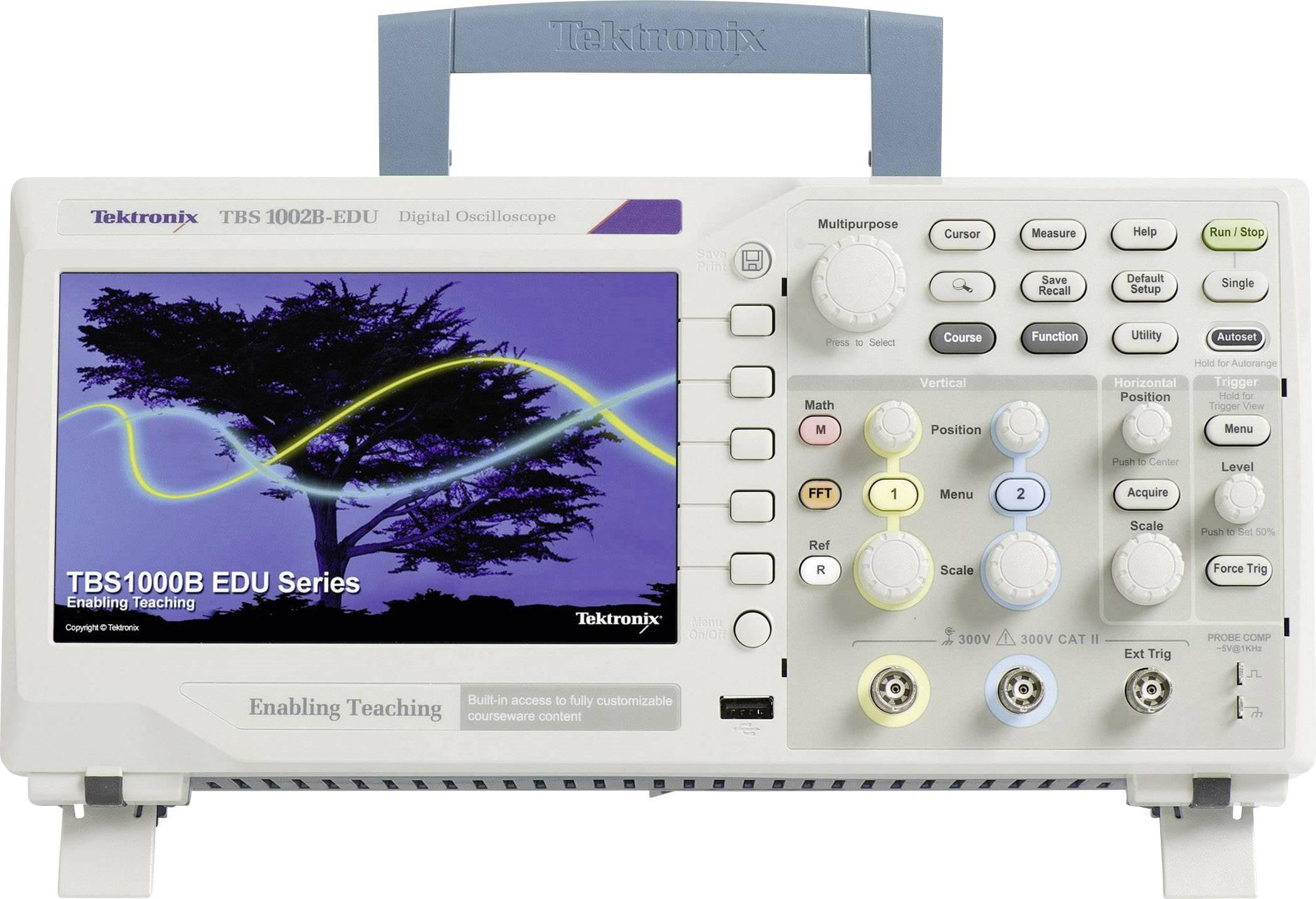 Digitální osciloskop Tektronix TBS1102B-EDU, 100 MHz, 2kanálový, kalibrováno dle ISO