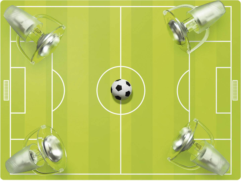 Stropní lampa fotbalové hřiště Waldi Leuchten 27404, E14, 36 W, úsporná žárovka, zelená