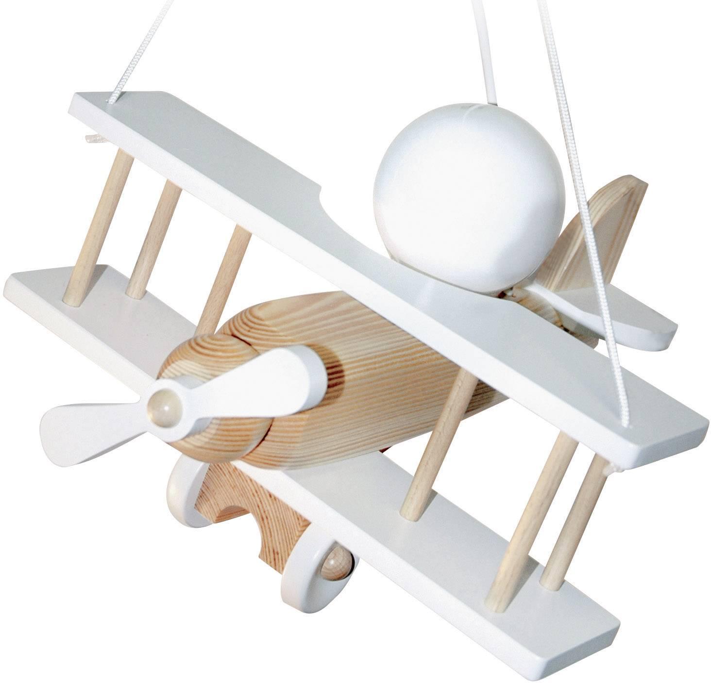 Závěsné světlo letadlo Waldi Leuchten Dvokrilac 27062, E27, 15 W, přírodní bílá