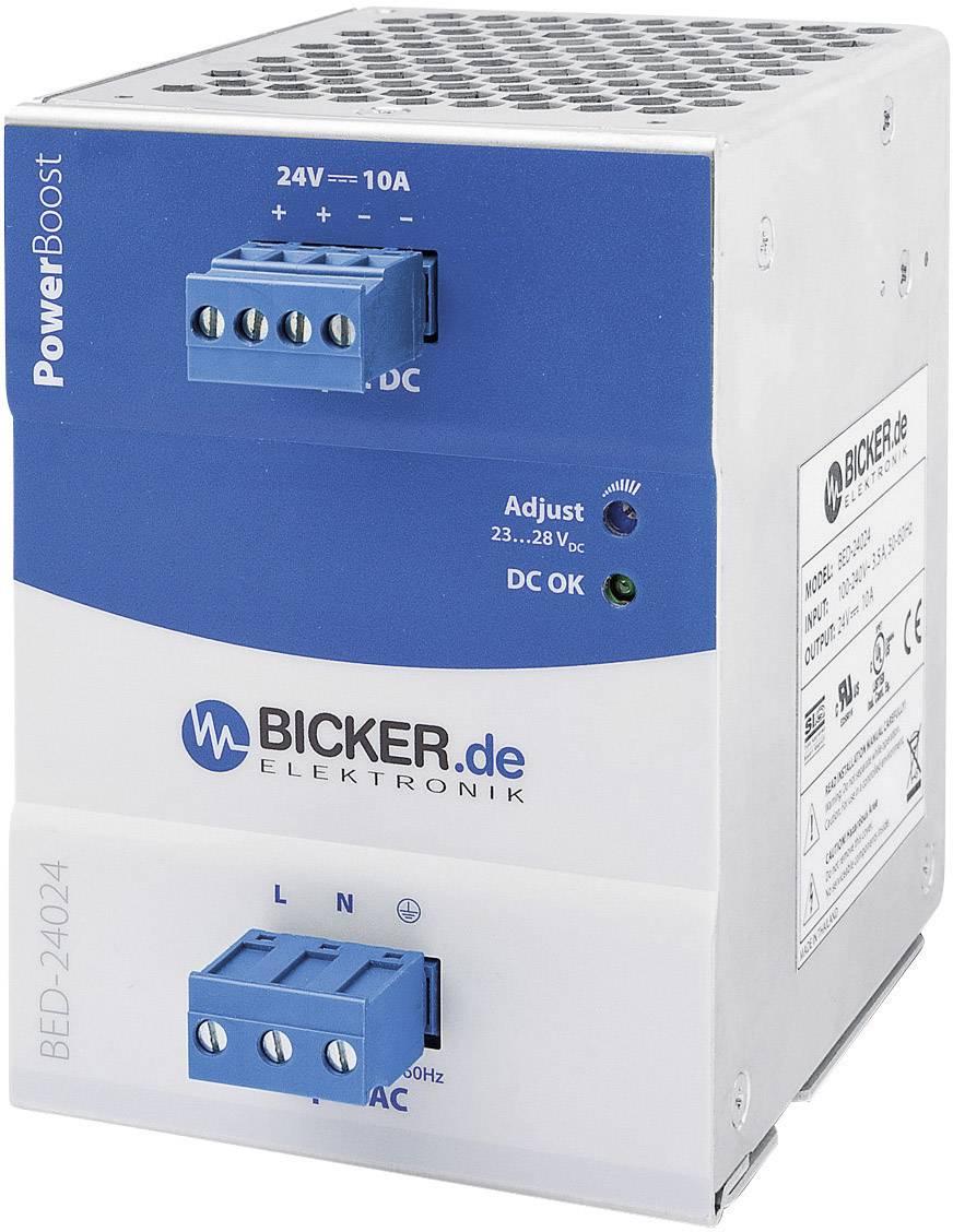 Napájecí zdroj na DIN lištu Bicker Elektronik BED-24024, 240 W, 24 V/DC
