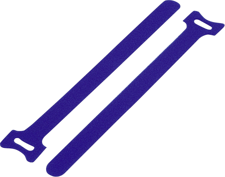 Káblový manažér na suchý zips TRU COMPONENTS TC-MGT-240BE203, (d x š) 240 mm x 16 mm, modrá, 1 ks
