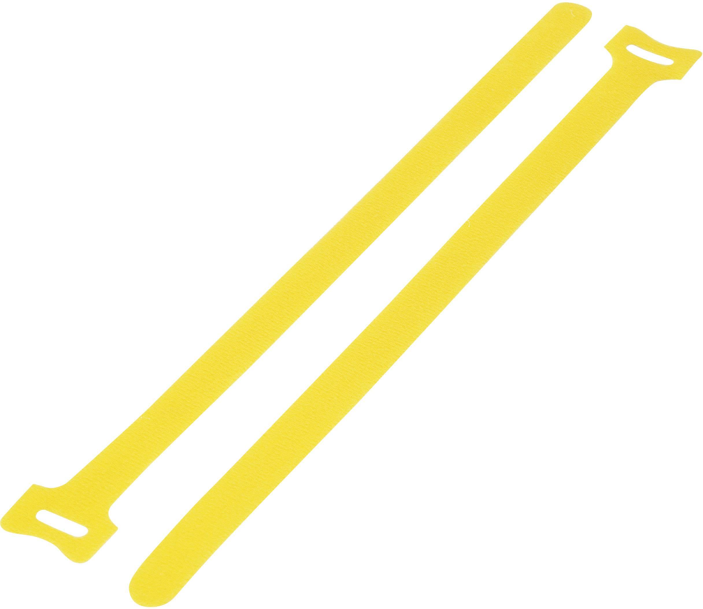 Káblový manažér na suchý zips TRU COMPONENTS TC-MGT-135YW203, (d x š) 135 mm x 12 mm, žltá, 1 ks