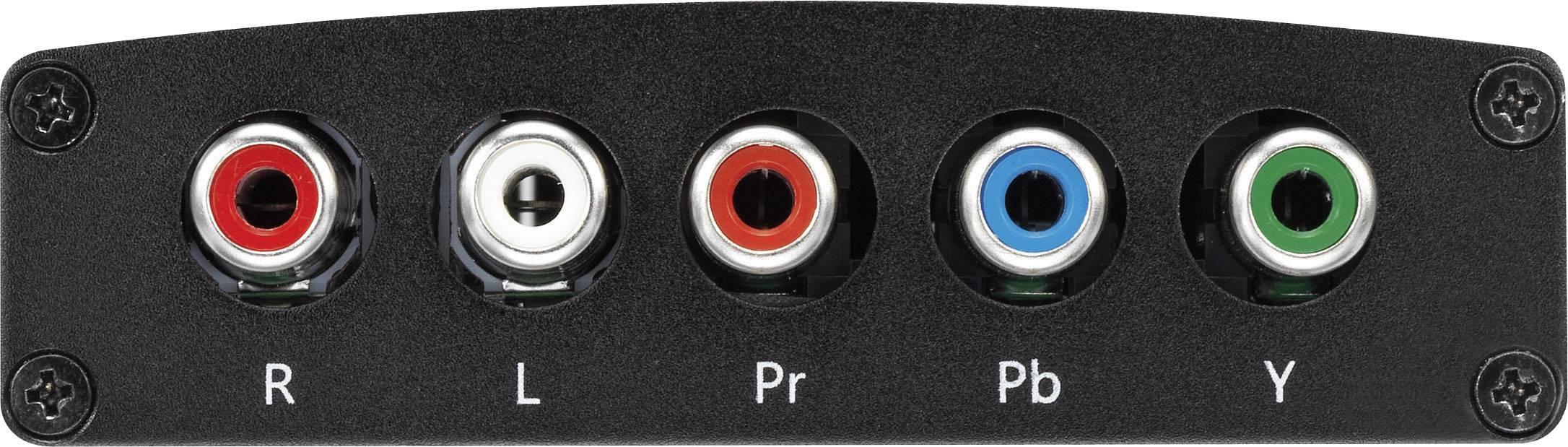 AV konvertor HDMI zásuvka ⇒ komponentní zásuvka SpeaKa Professional SP-HD/CO-01 SP-4383412