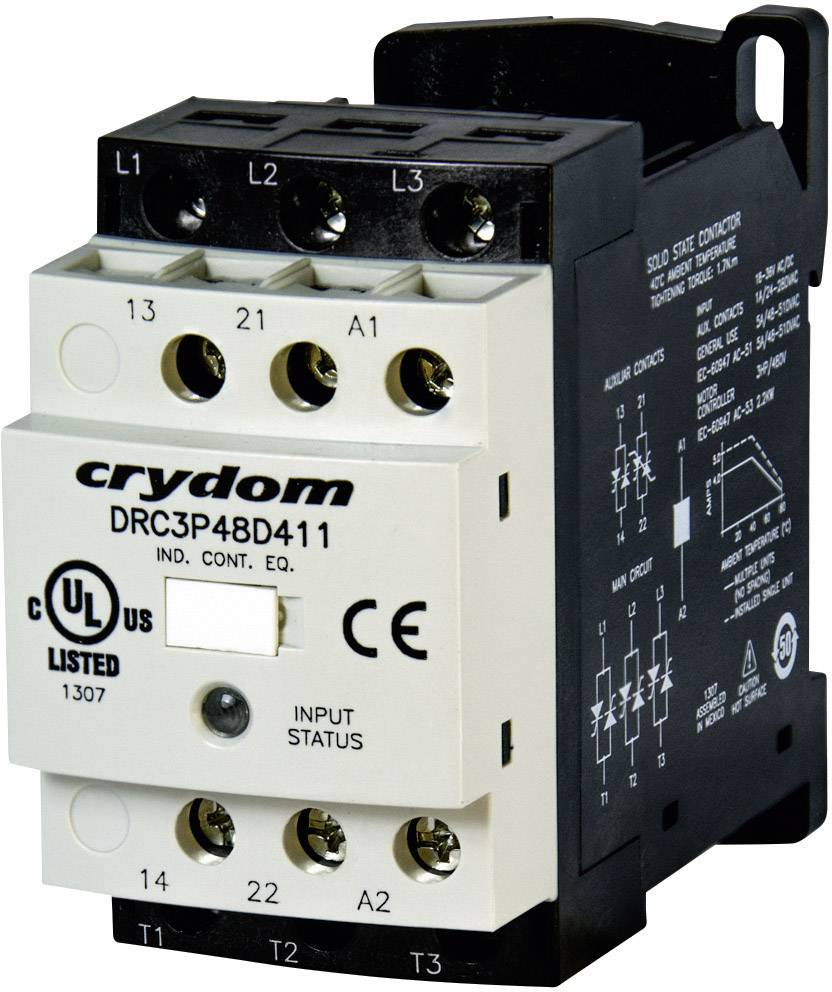 Motorový stykač Crydom DRC3P48D400R2 DRC3P48D400R2, 24 V/DC, 24 V/AC, 7.6 A, 1 ks
