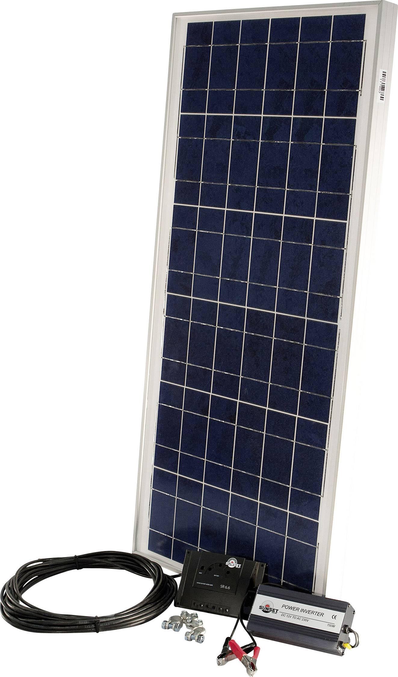 Solárna sada Sunset PX 55 110274, 55 Wp, vr. kábla, vr. nabíjacieho regulátora, vr. Meniča