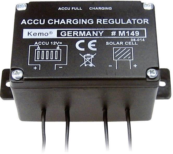 Solární regulátor nabíjení Kemo Electronic, 12 V, 6 A