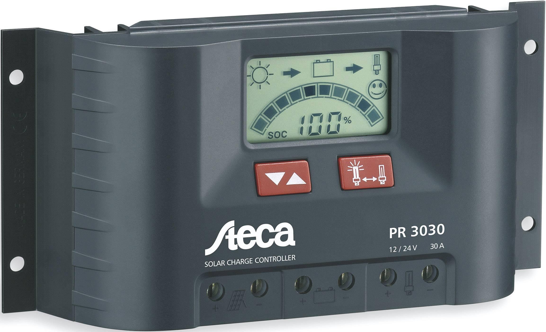 Solárny regulátor nabíjania Steca PR 3030 104517, 30 A, 12 V, 24 V
