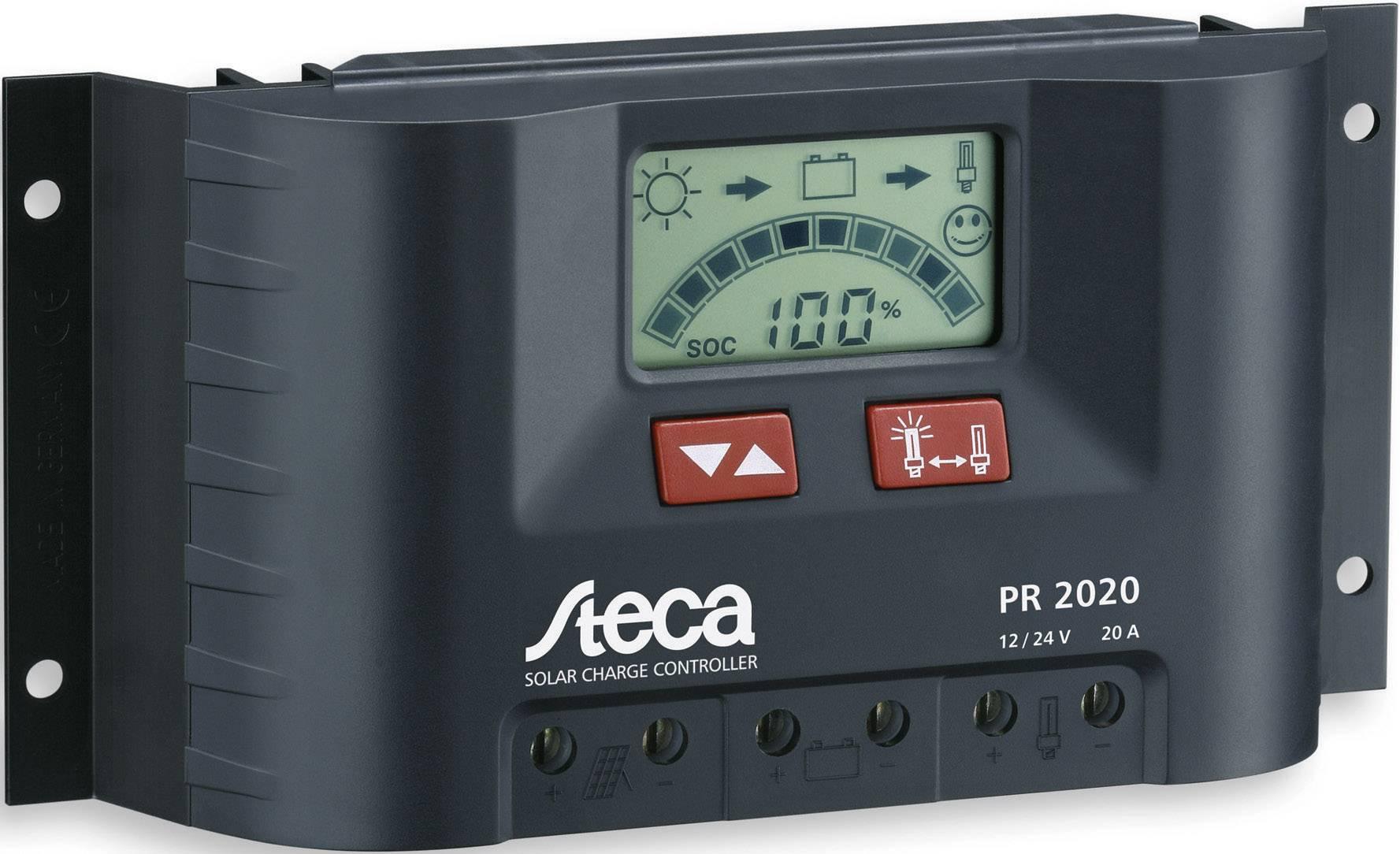 Solárny regulátor nabíjania Steca PR 2020 104516, 20 A, 12 V, 24 V