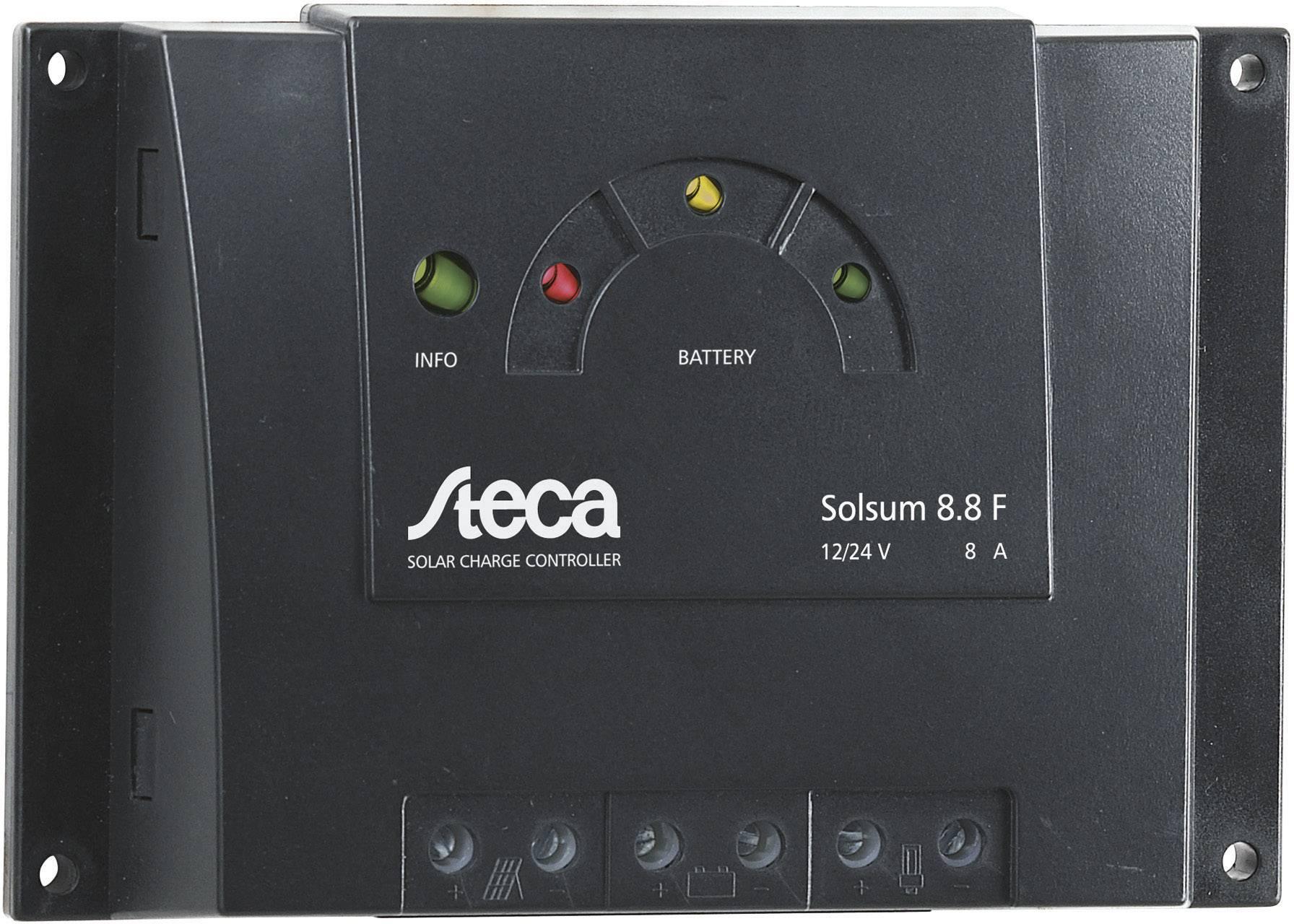 Solárny regulátor nabíjania Steca Solsum 8.8 F 302900, 8 A, 12 V, 24 V