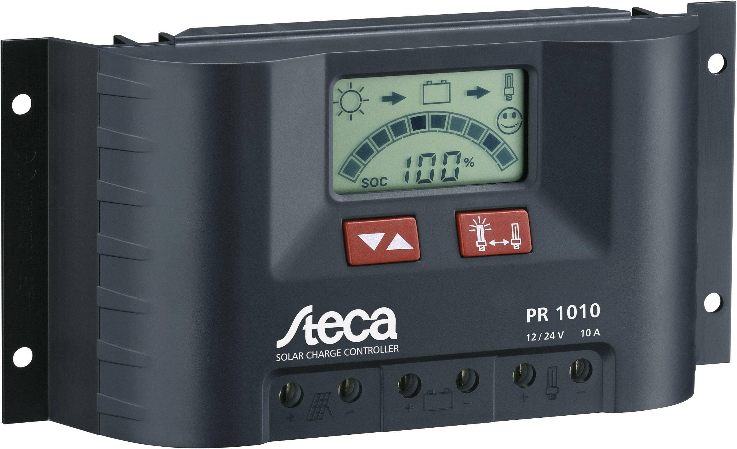 Solárny regulátor nabíjania Steca PR 1010 104514, 10 A, 12 V, 24 V