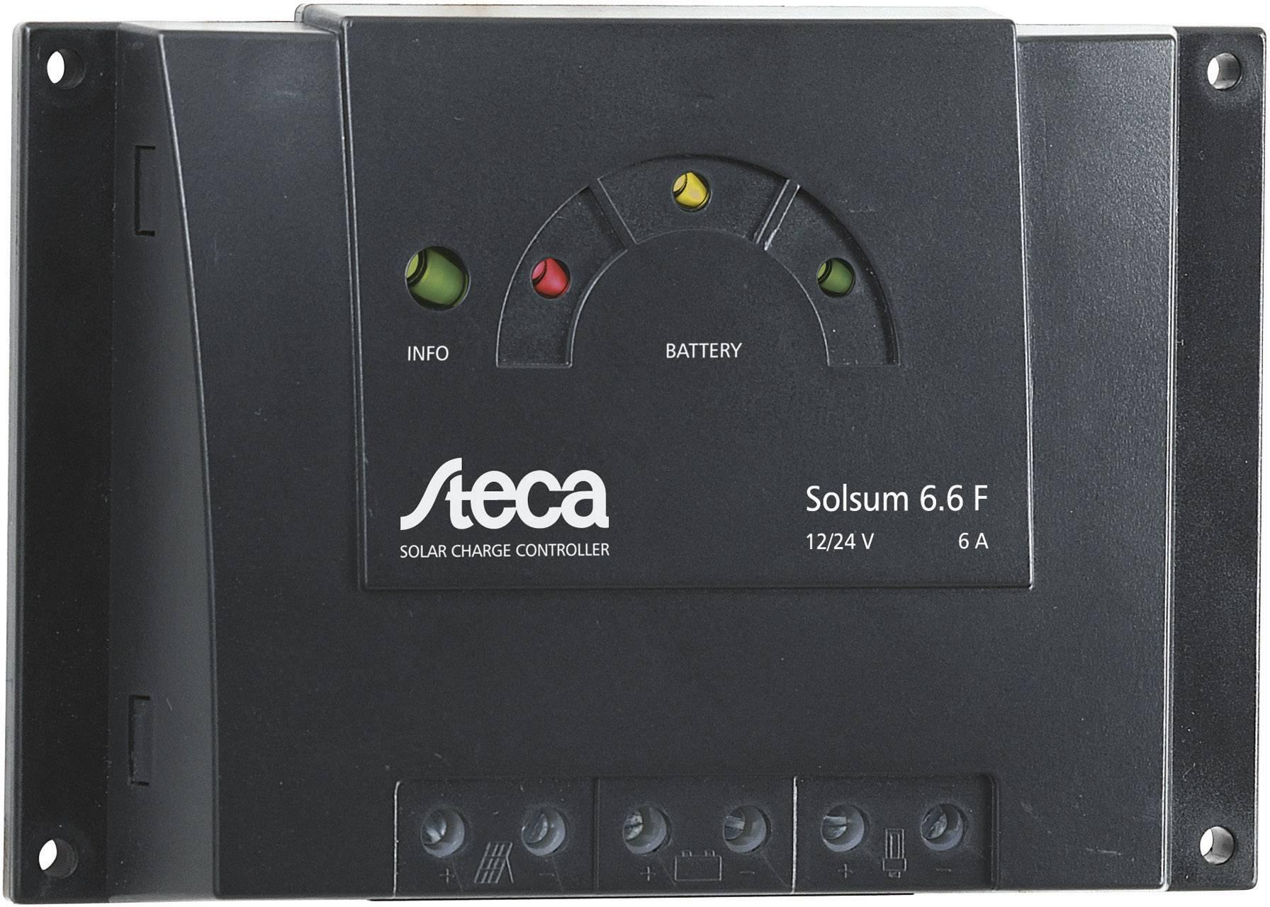 Solárny regulátor nabíjania Steca Solsum 6.6 F 302899, 6 A, 12 V, 24 V
