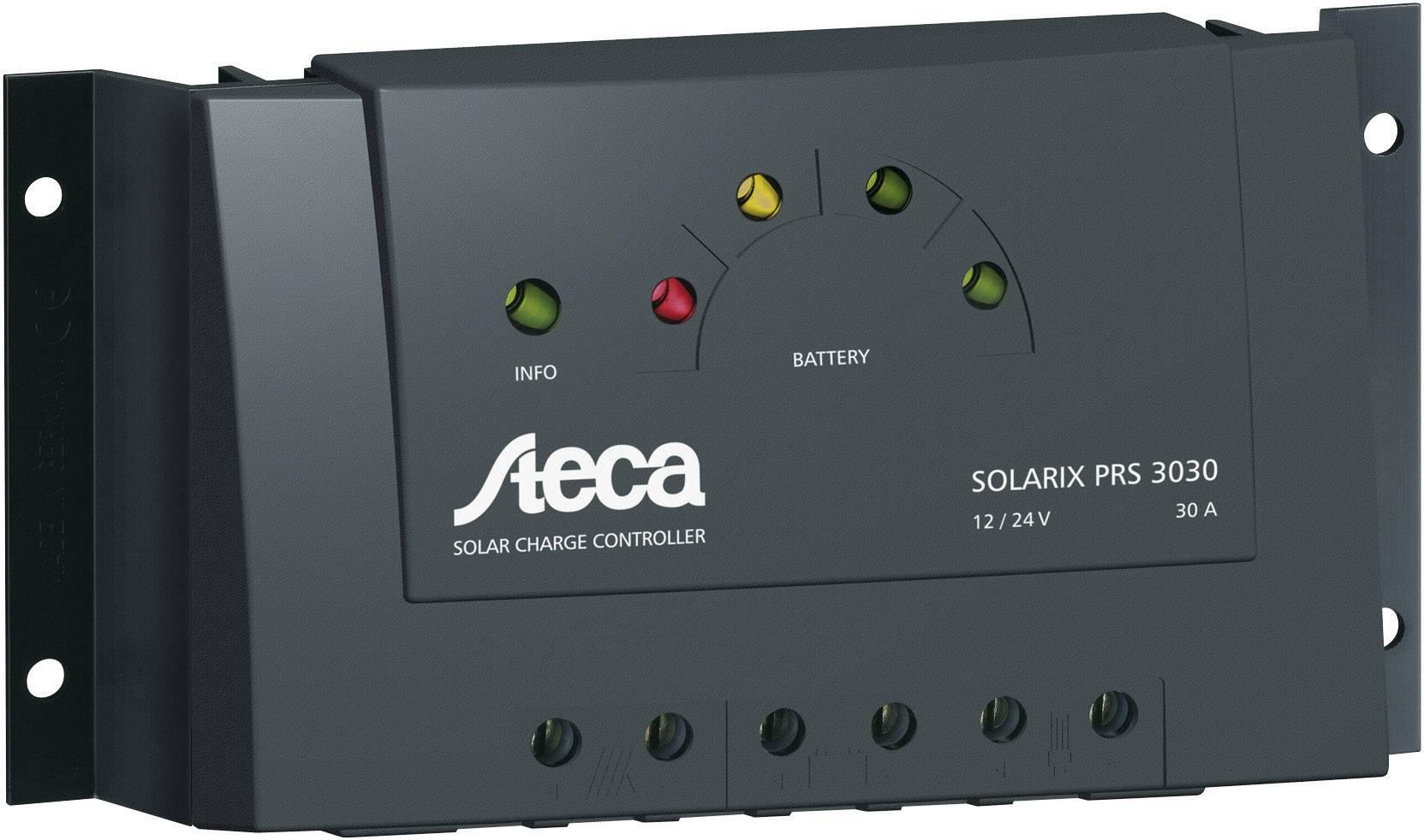 Solárny regulátor nabíjania Steca Solarix PRS 3030 101478, 30 A, 12 V, 24 V