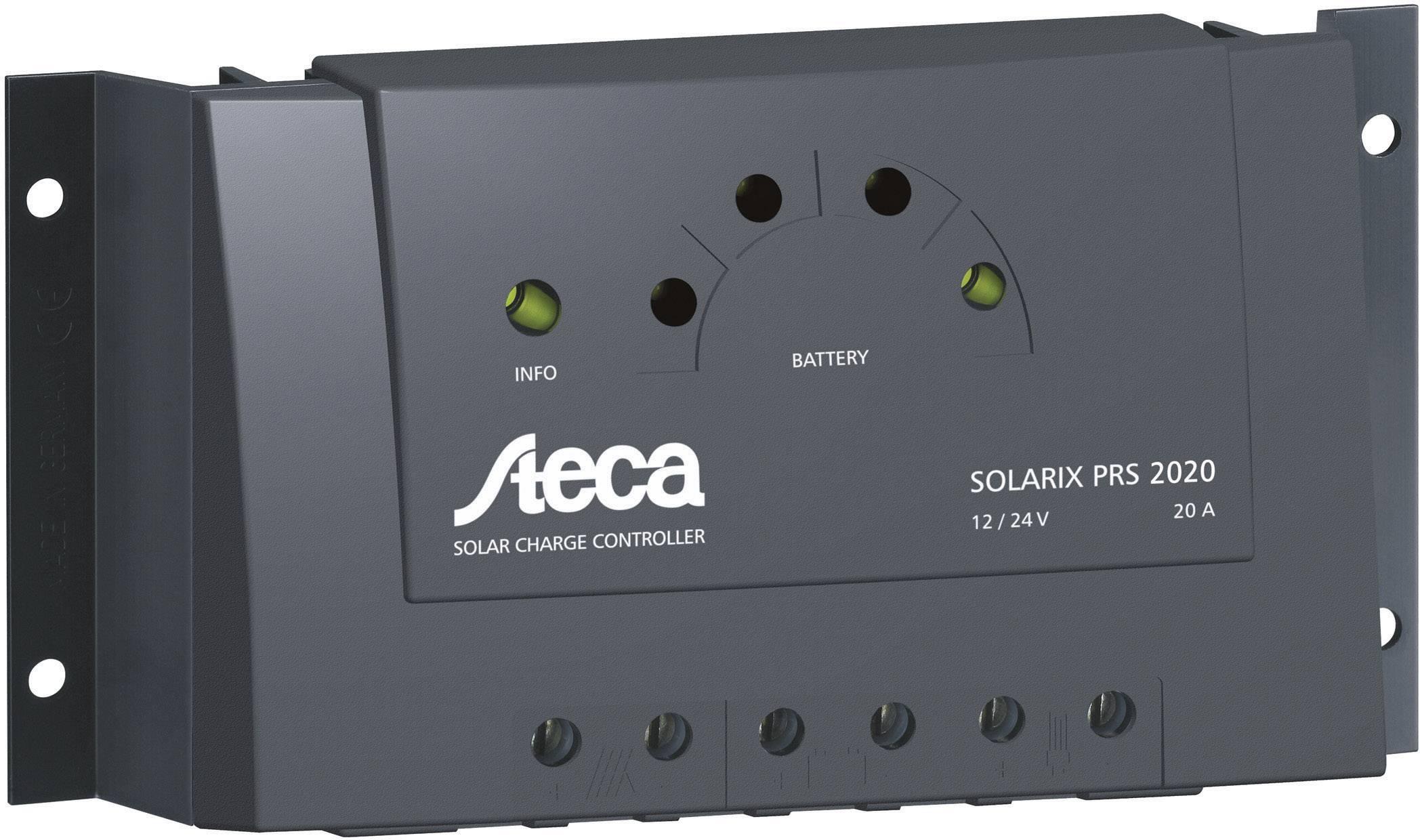 Solárny regulátor nabíjania Steca Solarix PRS 2020 101477, 20 A, 12 V, 24 V