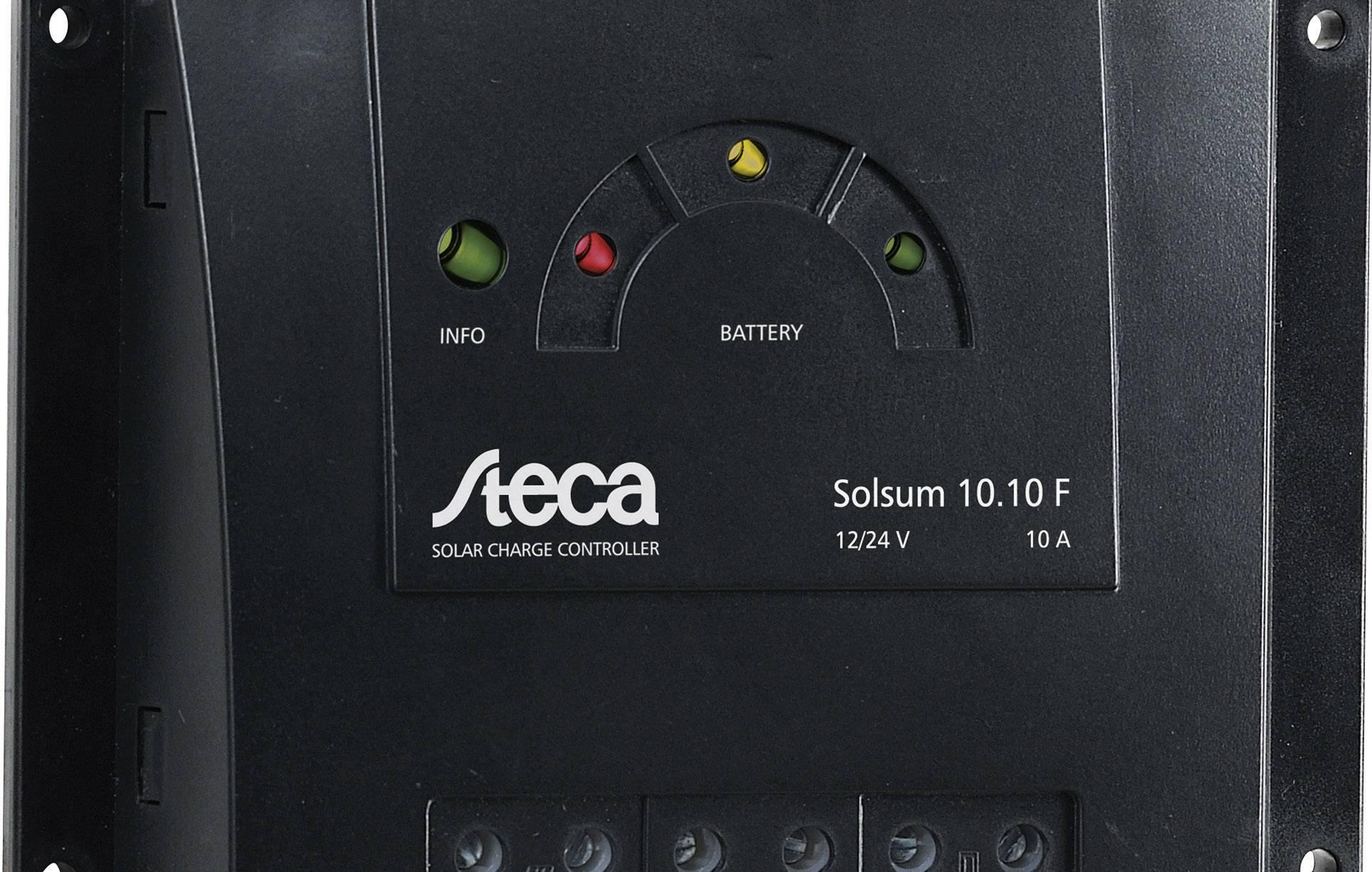 Solárny regulátor nabíjania Steca Solsum 10.10 F 302901, 10 A, 12 V, 24 V
