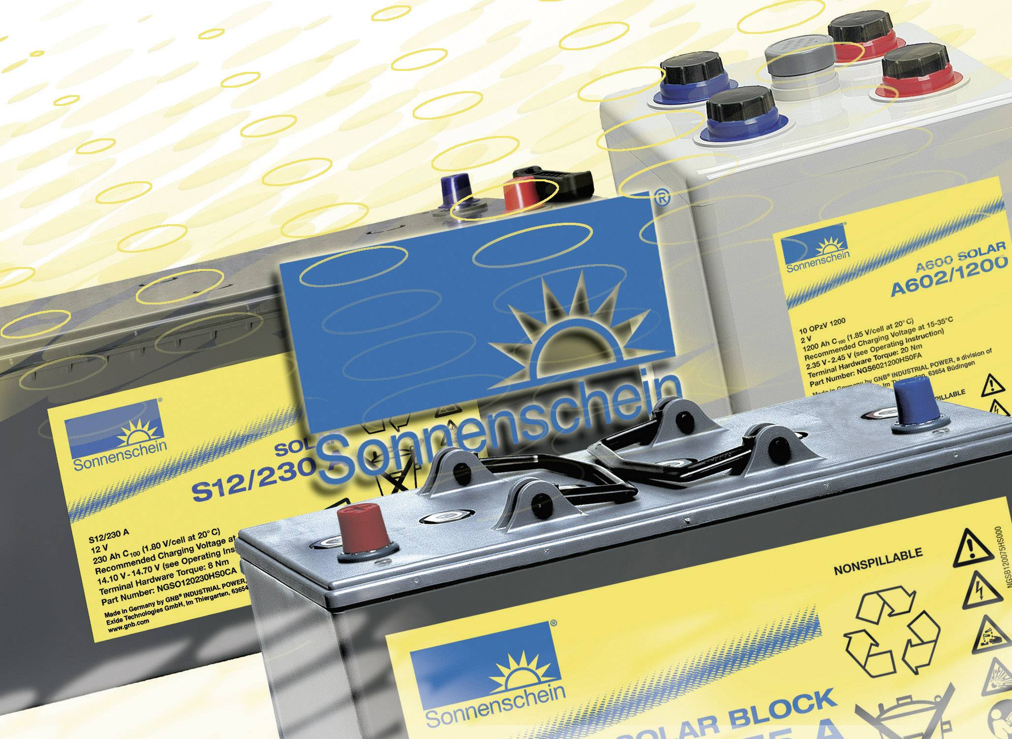 Solárny akumulátor GNB Sonnenschein dryfit S12/130 A 081 9875000, 12 V, 130 Ah