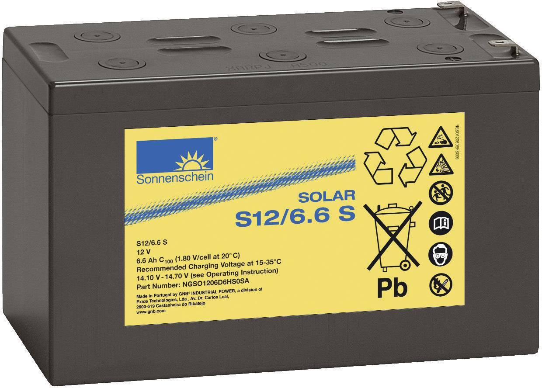 Solárny akumulátor GNB Sonnenschein dryfit S12/6,6 S 071 98 43200, 12 V, 6.6 Ah