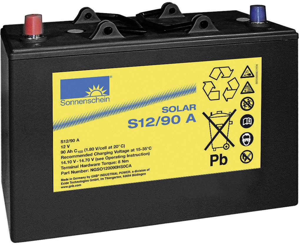 Solární akumulátor GNB Sonnenschein dryfit S12/90 A 081 987220, 12 V, 90 Ah