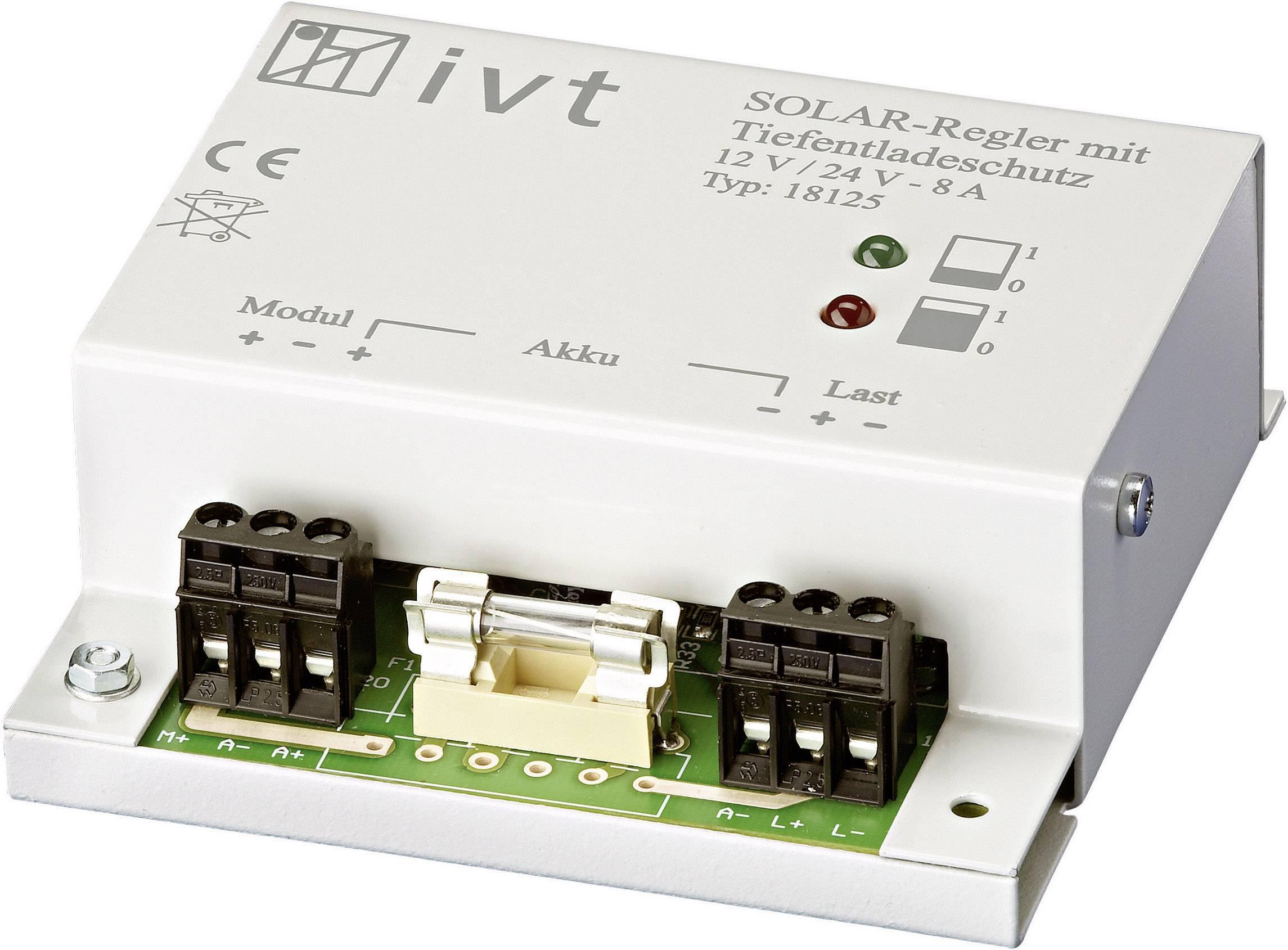 Solárny regulátor nabíjania IVT 200001 200001, 8 A, 12 V, 24 V
