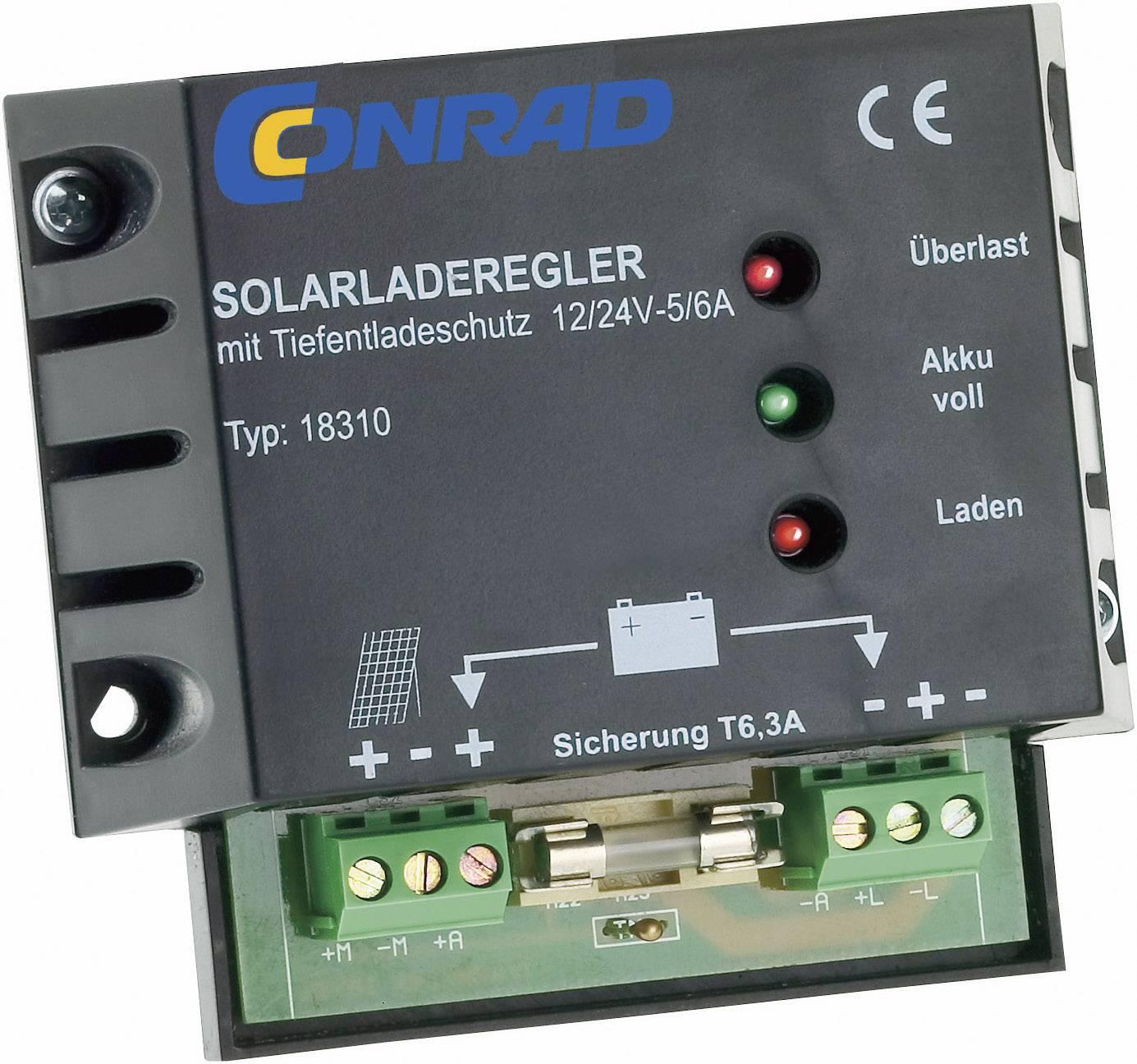 Solární regulátor nabíjení 18310 18310, 6 A, 12 V, 24 V