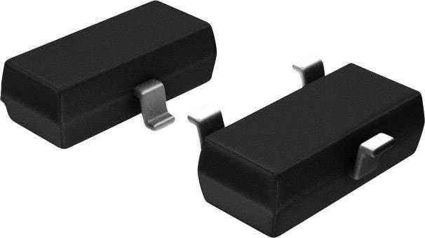 NPN tranzistor BRT tranzistor (BJT) Pre-Biased Nexperia PDTC143ET,215, TO-236-3 , Kanálů 1, 50 V