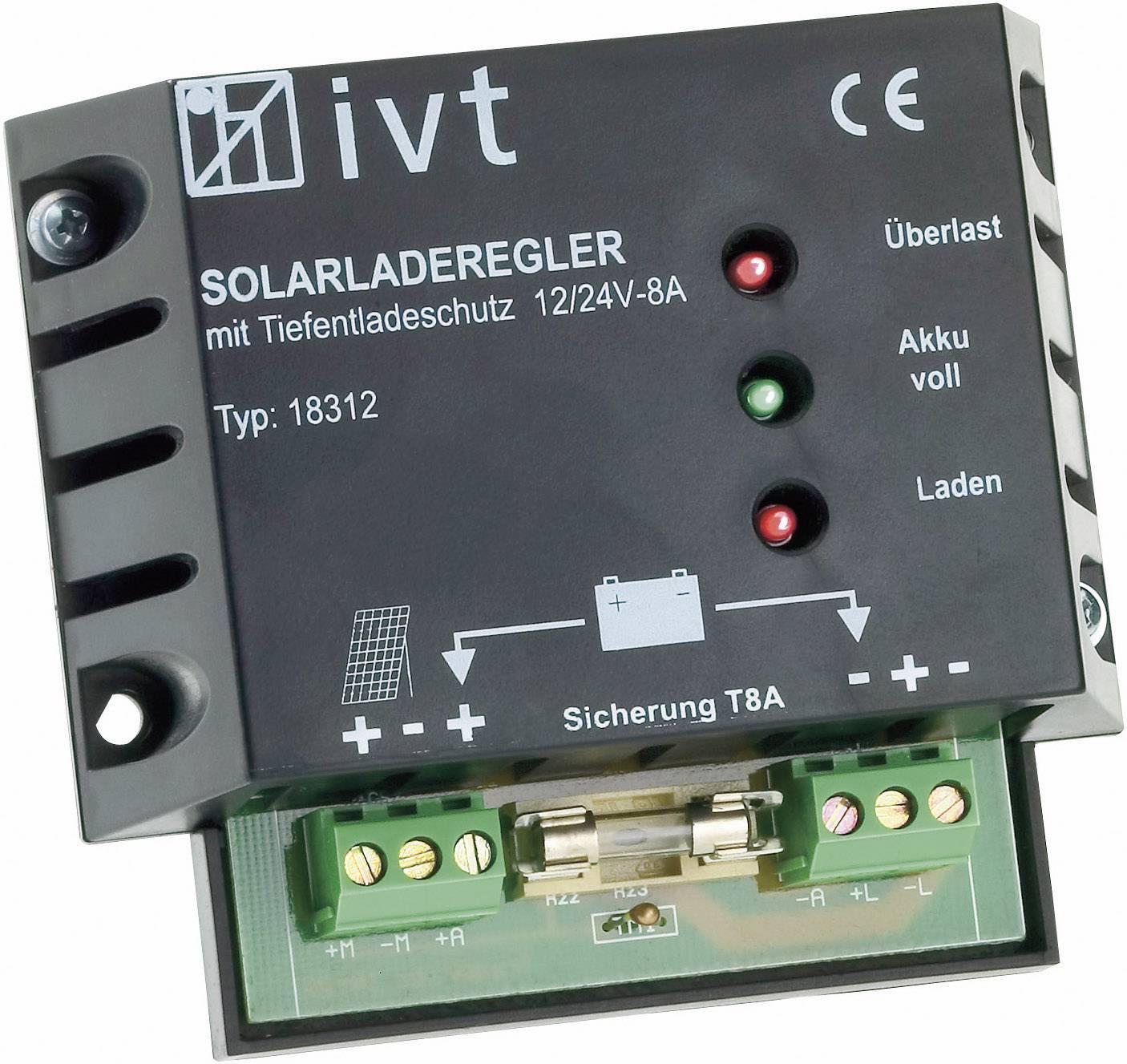 Solární regulátor nabíjení IVT, 12/24 V, 8 A
