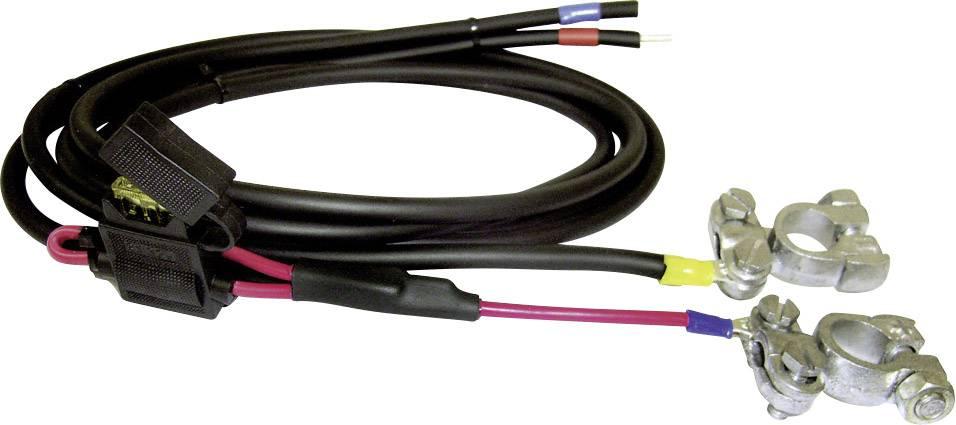 Spojovací vedení mezi regulátorem nabíjení a baterií