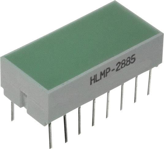 PlocháLED Broadcom HLMP-2885-FG000 (d x š x v) 20.32 x 10.28 x 10.16 mm, zelená