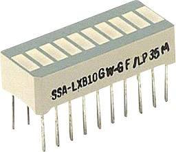 LED bargraf LUMEX, (d x š x v) 25.4 x 13.8 x 10.16 mm, zelená