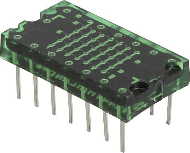 Bodový displej Lite-On, zelená, 7.62 mm, 2.1 V, počet číslic: 1